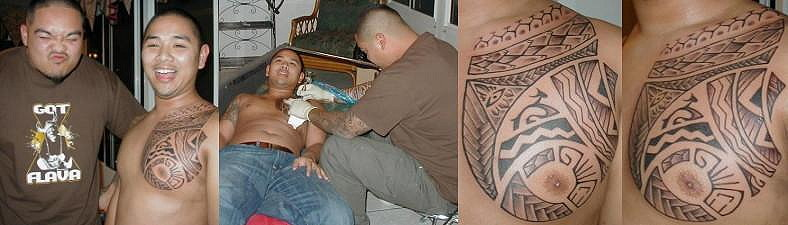 Beginnings Tattoo Studio, but in this occasion he tattooed at ELLE's house.