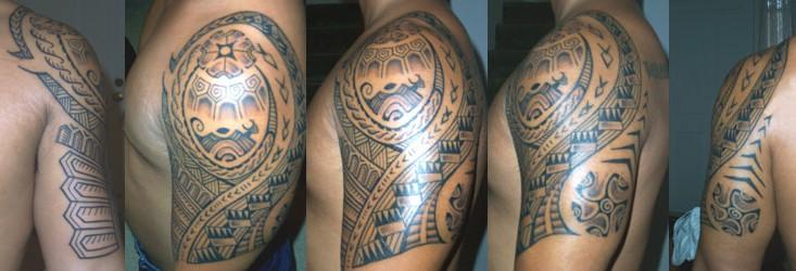 Designed and tattooed by Aisea of Primitive Black Tattoo Oahu Hawaii