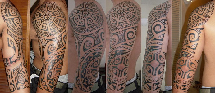 Designed by Elle (Amang-Red) and Tongan Artist Aisea; Tattooed by Aisea from